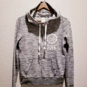 Victoria Secret Pink Hoodie Sweater Size SM Gray